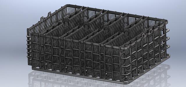Chargierkorb, Solidworks 3-D-Modell für die Konstruktion