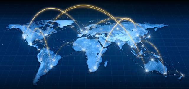 Weltkarte: Internationale Beratung für Härtereien